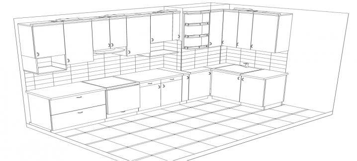 Эскиз мебели на заказ