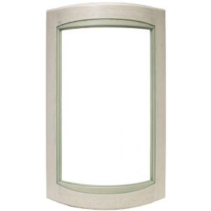 Радиусный фасад Искья зеленая под стекло
