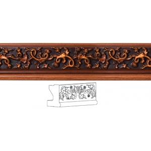 Карниз нижний/фриз прямой с декором  Виктория