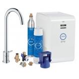 Кухонный вентиль GROHE Blue Minta New, функции фильтрации, охлаждения и газирования, цвет суперсталь.