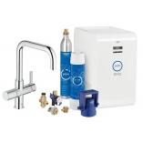 Кухонный смеситель GROHE Blue Chilled & Sparkling с U-изливом, функции фильтрации, охлаждения и газирования, цвет хром.
