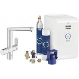 Кухонный смеситель GROHE Blue® K7 Chilled and Sparkling с L-изливом, функции фильтрации, охлаждения и газирования, цвет хром.