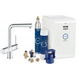 Кухонный смеситель GROHE Blue Minta New, функции фильтрации, охлаждения и газирования, цвет хром.