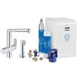 Кухонный смеситель GROHE Blue K7 Chilled and Sparkling, функции фильтрации, охлаждения и газирования, цвет хром.