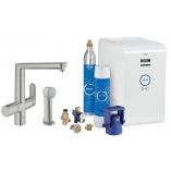 Кухонный смеситель GROHE Blue K7 Chilled and Sparkling, функции фильтрации, охлаждения и газирования, цвет суперсталь.