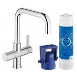 Смеситель для кухни GROHE Blue Pure  с U-изливом, функция фильтрации, цвет хром.