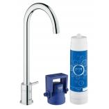 GROHE Blue Mono Pure вентиль, функция фильтрации, цвет хром.