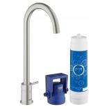 GROHE Blue Mono Pure вентиль, функция фильтрации, цвет суперсталь.
