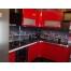 Угловая кухня из красного пластика Acryline
