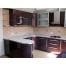 П-образная кухня цвета баклажан из пластика Акрилайн