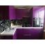 Угловая кухня цвета баклажан из пластика Акрилайн