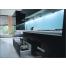 Прямая кухня из черного пластика Acryline