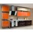 Прямая кухня из оранжевого пластика Acryline